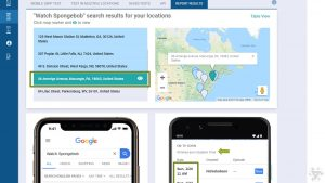 MobileMoxie SERP Test Allows You to Upload a CSV of Addresses to test with, so you can see real search results & from all over the world. & improve your Mobile SEO Strategy Accordingly