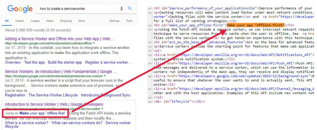 Fraggles / Jump Links from a SERP