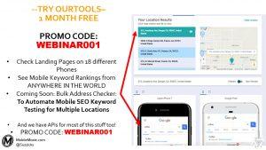 MobileMoxie Mobile SEO Tools Promo Code