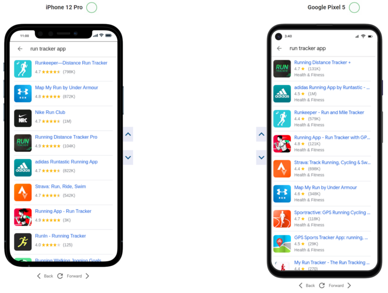 the MobileMoxie App Rankalyzer