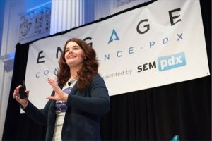 Cindy Krum speaking at Engage PDX