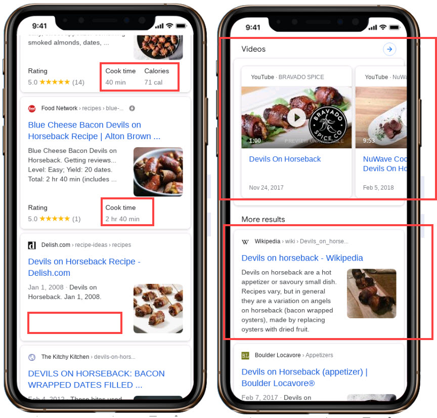 Recipe SEO - Mobile Rankings