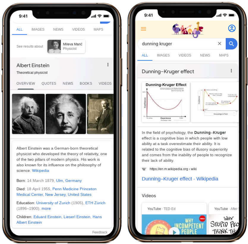 Smart Knowledge Graph - with disambiguation - multiple tabs and no tabs