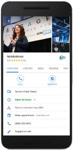 GMB in the MobileMoxie Page-oscope