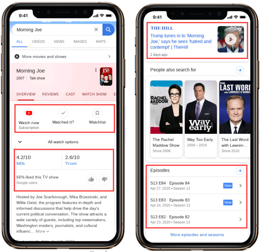 TV News Search result Optimization