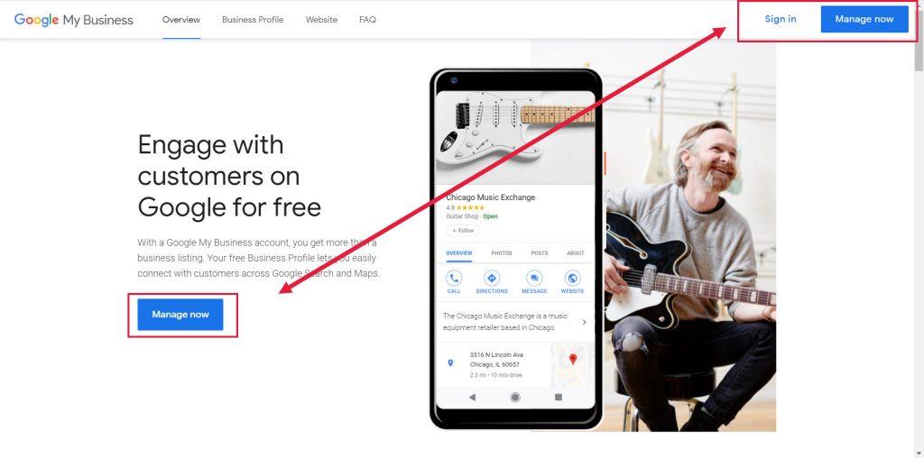Log into Google My Business