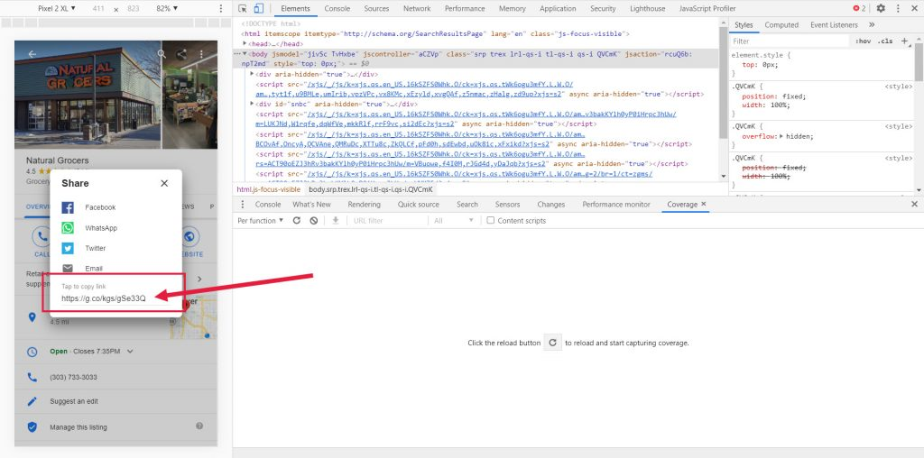 Find Static GMB URL for Any Company - Static URL